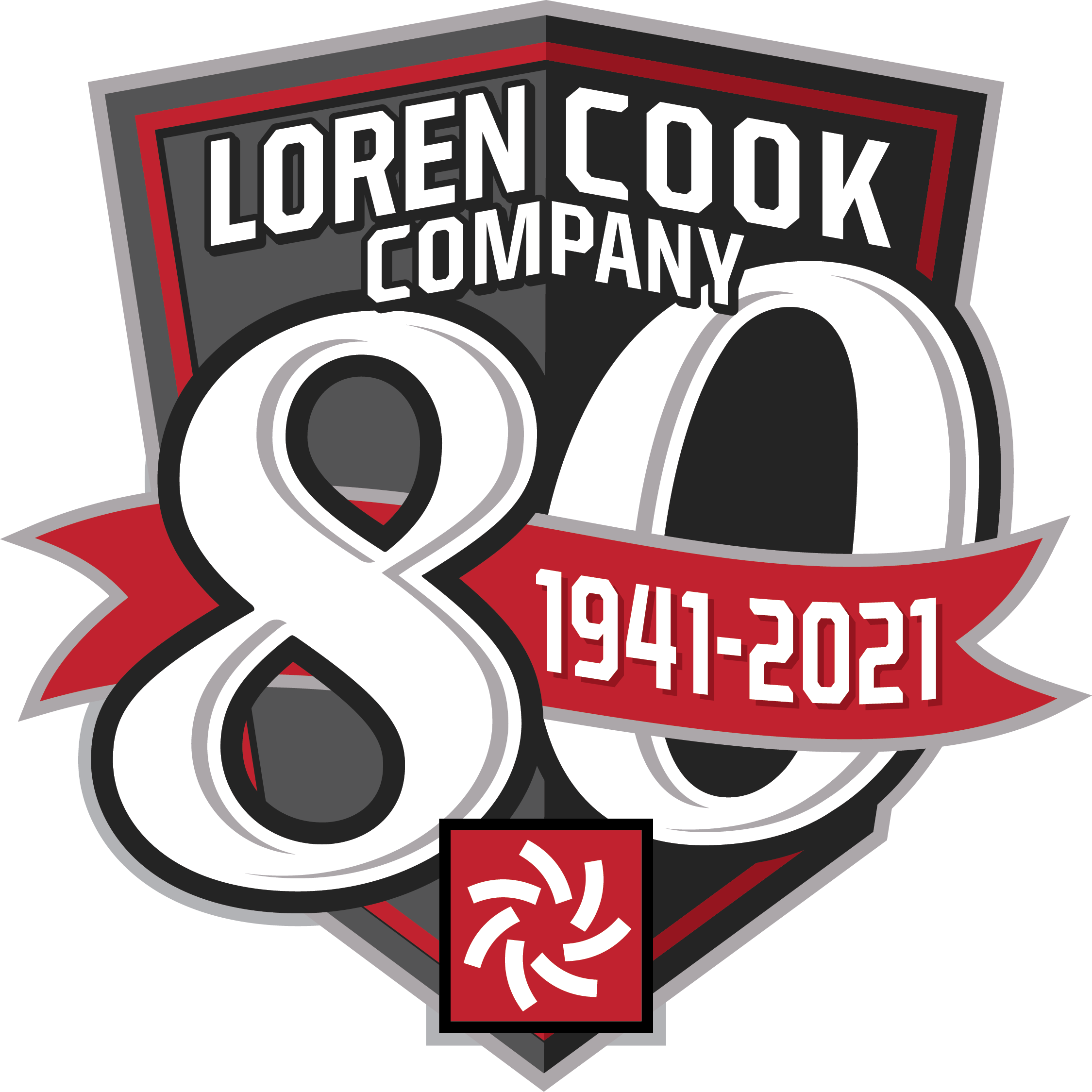 Cook 80th Anniversary Logo